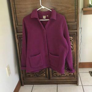 L.L. Bean fleece blazer